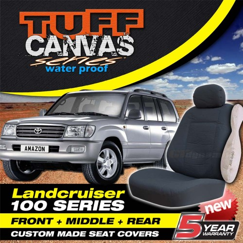 Tuff Canvas Landcruiser 100 Series Custom Made Seat Covers 3 Row Set
