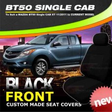 Mazda BT50 Single Cab XT BLACK FRONT Seat Covers 10/2011-ON BT-50