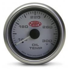 SAAS - Oil Temperature Gauge White 2 5/8