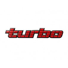 VL TURBO BADGE RED